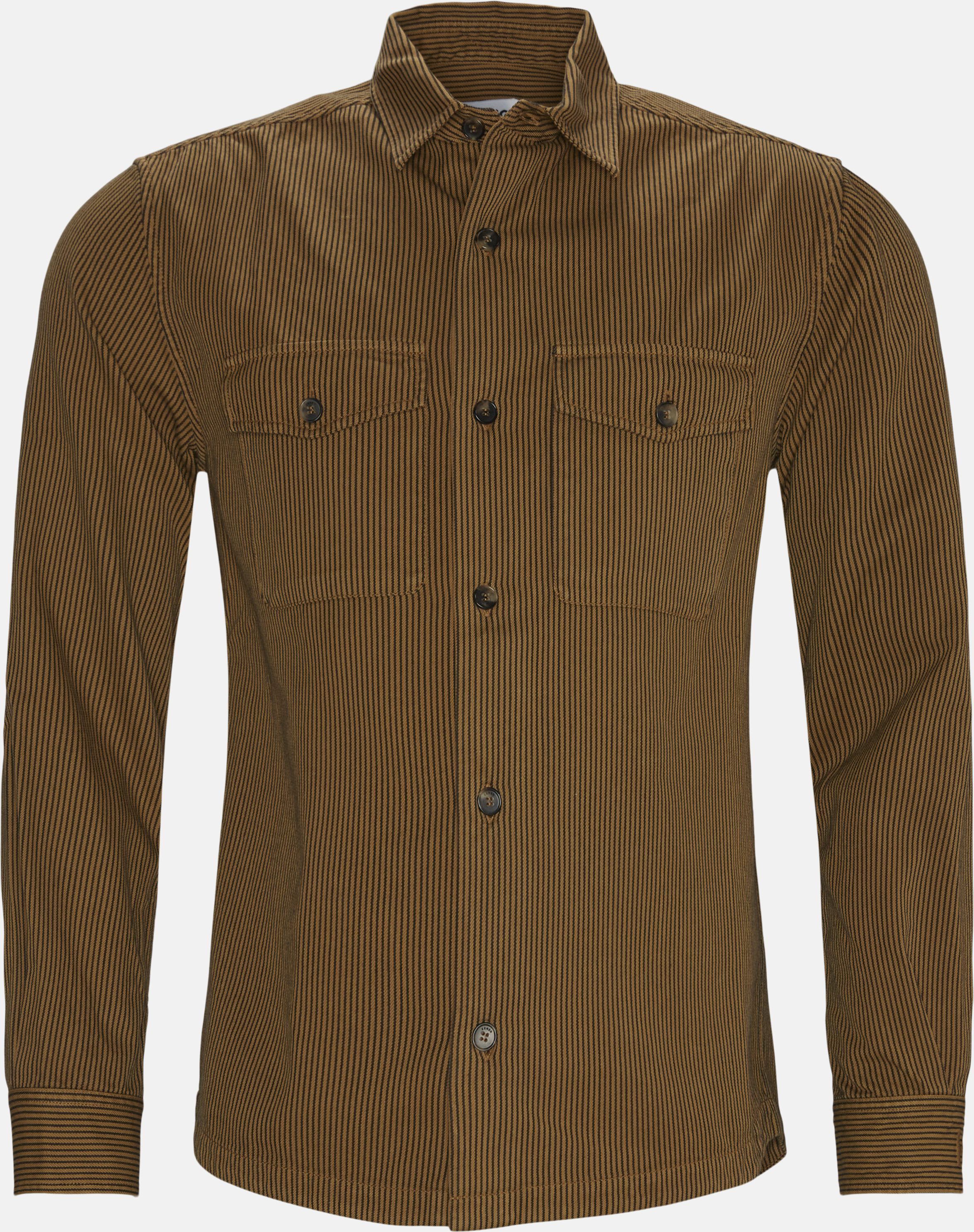 Shirts - Regular - Brown